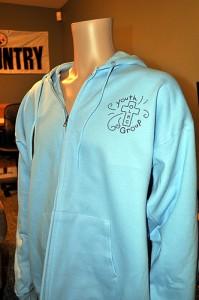 OLHOC zip hoodie, front