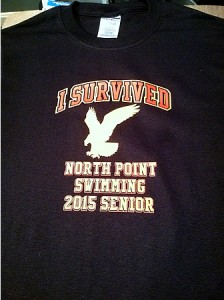 North Point Swimming Seniors tee