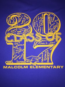 Malcolm Class of 2017 back